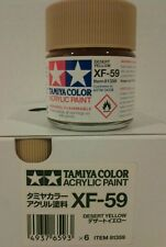 Tamiya acrylic paint XF-59 Desert yellow 23ml.