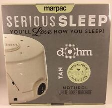 Marpac Dohm DS Dual Speed Sound Conditioner White Noise - Tan / Fog *NIB Sealed*
