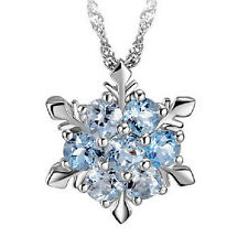 Beautifully Natural Necklace plated Zircon Snowflake Necklace Christmas SALING