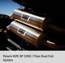 HMF Polaris RZR XP 1000 2015-2017 Titan XL Series Dual Full Exhaust Muffler