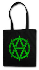 VEGANANARCHISM SYMBOL Hipster Shopping Cotton Bag - Cyber Punk Gothic Rocker