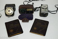 2-1954 Kodak Master Photoguides + GE PR-3, Weston Cine & Sekonic Exposure Meters