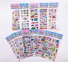 12pcs/Lot Bubble Stickers 3D Cartoon KIds ClassicToys Sticker School Reward gift