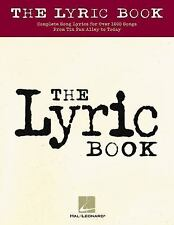 THE LYRIC BOOK 1000 Songs Beatles Elvis Billie Joel Sinatra Lennon McCartney Etc