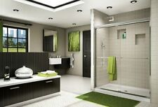 "FLEURCO 48"" x 70"" BANYO CORDOBA 1/4"" FRAMELESS SLIDING SHOWER DOOR"