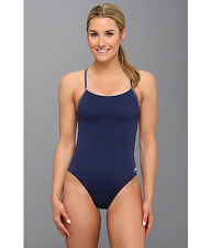New SPEEDO Size 14 Solid Endurance Navy One-piece Women's Swimwear
