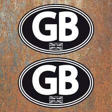 GB Union Jack Laminated Stickers 130x90mm Car Van Camper Scooter Vespa VW Decals