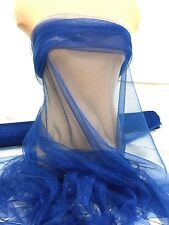 "GLITTER TULLE NETTING SHEER  ROYAL BLUE 58 ""  POLYESTER , DRESS, COSTUME, CRAFTS"