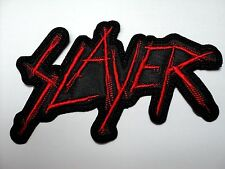 SLAYER SHAPED RED LOGO EMBROIDERED PATCH