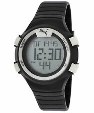 Puma PU911261004 Women's Digital Black Silicone Grey Dial