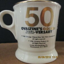 Ovaltine's Golden ANNIE-Versary Mug, 1981 is printed on the back, Looks Great!!!