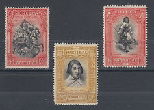 Portugal Sc 432, 434, 436 MLH. 1927 Bicolors, 3 different