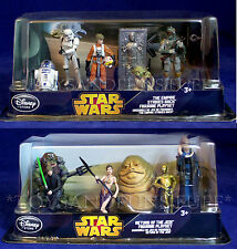 NEW 2 Disney STAR WARS Figure Playsets JABBA HUTT Boba Fett GAMORREAN Slave Leia