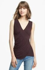 Bailey 44 Tamarind Pleated Top Raisin Size Large L NEW Retail $150.00 FREE SHIP