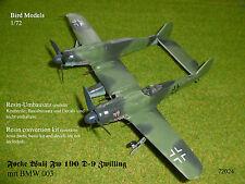 Focke Wulf Fw 190 d-9 gemelo w/bmw 003 1/72 Bird models transformación frase/Conversion