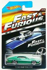 Fast & Furious 1972 Ford Grand Torino Sports Car Hot Wheels Diecast 1:64 Scale
