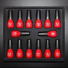 12 Color Base Gel Top Coat Soak Off UV Lamp Nail Polish 8 ML Tips Decoration Kit