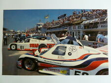1985 Le Mans Group C Race Cars Picture, Print, Poster RARE!! Awesome L@@K