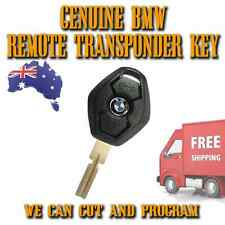 BMW Genuine 3 Button Transponder Remote Key - 315mhz - 4 Track Blade - Free Post