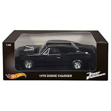 1/18 Hot Wheels The Fast and the Furious 1970 Dodge Charger Black CMC97