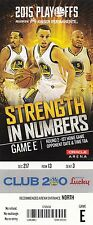 2015 GOLDEN STATE WARRIORS VS MEMPHIS GRIZZLIES PLAYOFFS GAME #1 TICKET STUB
