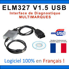 Interface Diagnostic ELM327 PRO USB Français - OBD OBD2 MAXISCAN MULTIMARQUE