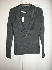 ANN TAYOR LOFT LADIES GRAY PULLOVER SWEATER SIZE S  NWT