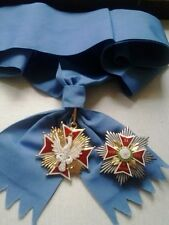 Polish Order of White Eagle set jewel star and big ribbon Order Orla Bialego