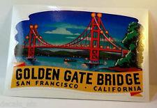 Golden Gate Bridge Vintage Style Travel Decal / Vinyl Sticker, Luggage Label