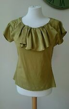Principles Green Top Cotton with Silk Trim Size 14 [R73]