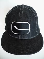 NHL Hockey Stick Patch Black 100% Cotton One Size 7 1/4 Hat Cap. 58cm. New Era