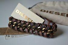 Diesel Askio Unisex Armband ASITT Bracciale Neu Leder Leather