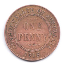 AUSTRALIA   1915(h) One Penny, George V   Cleaned coin.