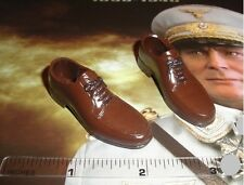 3R 1/6 Scale WWII German Officer Head of the Luftwaffe GM616 Brown Dress Shoes