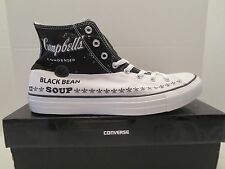 CONVERSE ALL STAR CT HI ANDY WARHOL CAMPBELLS BLACK BEAN SOUP Mens size 10