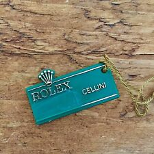 ROLEX Vintage Green Tag Hangtag  Cellini White Yellow Gold Asprey