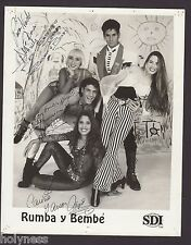 VINTAGE PRESS PHOTO / RUMBA Y BEMBE / SIGNED / 1990's