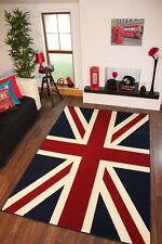 Quality Blue Red Union Jack Flag Print Rug 120cm x 170cm  London Union Jack