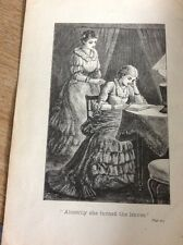74-2 Ephemera Victorian Book Plate Girl At Desk She Turned To Leave