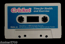 TALKING CRICKET DOLL AUDIO TAPE TITLED TIME FOR HEALTH AND EXERCISE WORKS