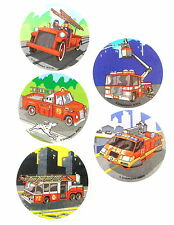 15 Fire Truck Stickers Party Favors Teacher Supply