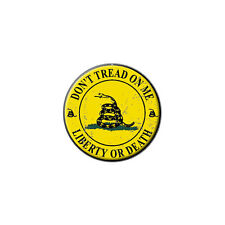 Gadsden - Don't Tread on Me - Liberty or Death - Lapel Round Pin Tie Tack