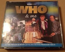 Who & Me 3 x Cd Box Set  Doctor Who Producer Memoirs Barry Letts BBC 2008