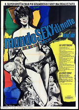 MONDO SEXY DI NOTTE MANIFESTO CINEMA WORLD STRIP-TEASE MONDO MOVIE ART POSTER 4F