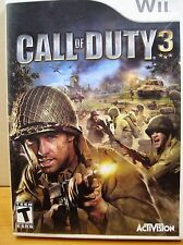 Call Of Duty 3 - Nintendo Wii Video Game Action Warfare 2006 Rated T - Teen
