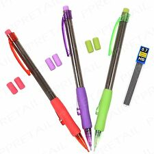 Refillable Mechanical Pencil Set 0.7mm HB & Lead Refills Drafting Drawing Pack