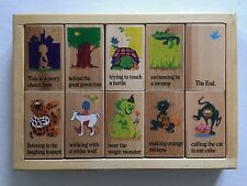 Story Blocks Wooden 1999 by Rhyme & Season Toys RARE Ages 2+