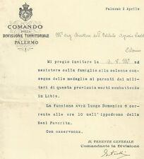 Comando Divisione Territoriale Palermo - Medaglie ai Caduti in Libia 1913