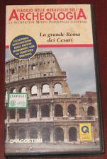 """Videocassetta/VHS """" ARCHEOLOGIA-LA GRANDE ROMA DEI CESARI """" cod. 32904857"""
