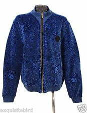 SOLD OUT!!! New Versace Baroque Medusa Blue Velvet Jacket 4XL